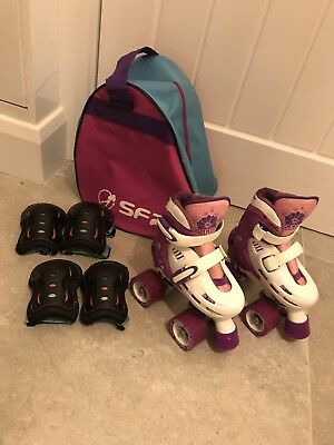 Storm SFR Girls Roller Quad Skates Size 8-11 PERFECT CONDITION