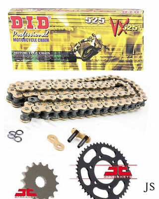 Aprilia 1000 Tuono V4 R / APRC 2012-2016 DID VX Gold X-Ring Chain & Sprocket Kit