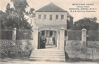 KINGSTON, JAMAICA, MONTAGUE HOUSE A PRIVATE HOTEL, PEOPLE c 1904-14