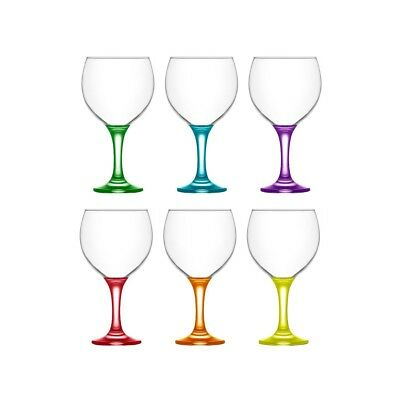 Lav Coral Gin & Tonic Balloon Glasses Set of 6 365ml Multi-coloured Glassware