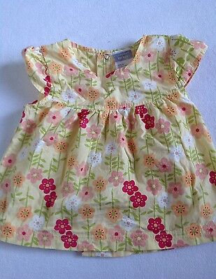 RICOCHET BABY Yellow Floral Top SIZE 00
