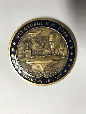 President George H W Bush Commissioned USS CVN 77 Coin