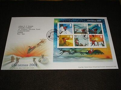 2004 GB Stamps CHRISTMAS MINI SHEET First Day Cover BETHLEHEM Cancels FDC