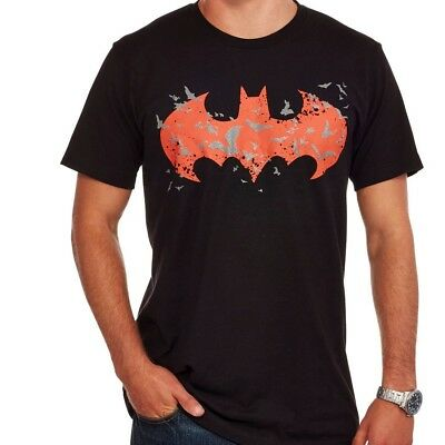 DC Comics Batman glow in the dark black logo graphic tee NWT UPICK mens' L XL