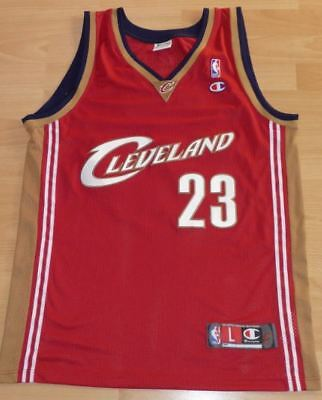 0db2cdd5 Cleveland Cavaliers LeBron James #23 NBA AUTHENTIC Basketball Champion L  Jersey