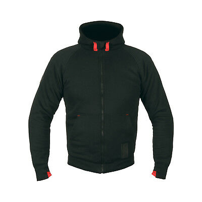 Akito Block Aramid Reinforced Motorcycle Protective Biker Hoodie Ce Armour Black