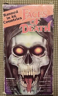 FACES OF DEATH VHS Rare Cult Movie Film Banned 46 Countries Horror