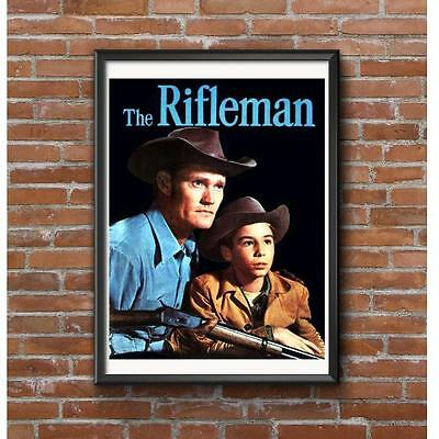 The Rifleman Poster - Lucas McCain and his son Mark McCain - Western TV Show