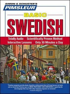 NEW Pimsleur Swedish Basic Course - Level 1 Lessons 1-10 CD By Pimsleur Audio CD