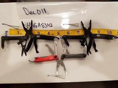 Gerber Dime Lot 3 Multi Tool ScrewDriver Scissors Knife File Driver Pliers USA