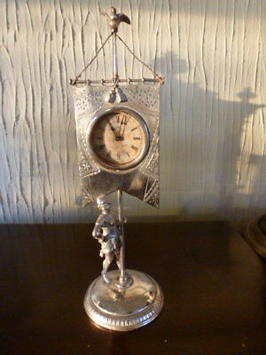 Old USA THE STANDARD silvered mantel clock by Ansonia