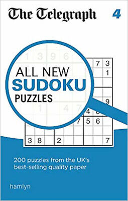 The Telegraph All New Sudoku Puzzles 4 (The Telegraph Puzzle Books), New, THE TE