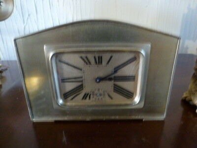 Super brass 8 day alarm  mantel clock by Brevete