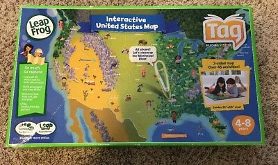 Leap Frog Interactive World Map 2 Sided For Use With Tag Pen