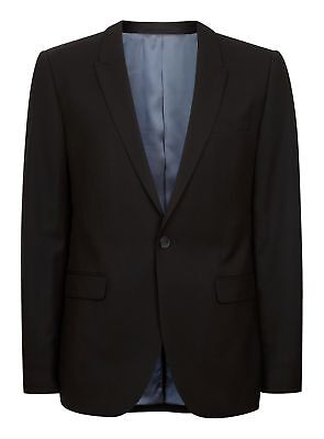 $280 Nwot Topman Mens Ultra Skinny Black Sport Suit Coat Jacket Size 44R