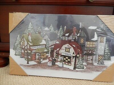 "Department 56 - Dickens Cobblestone Shops - Twinkle Light up Canvas 20"" x 12"""