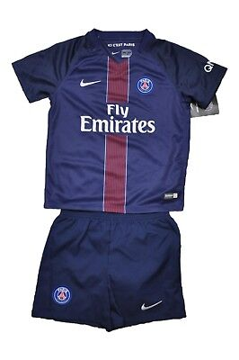 Paris Saint Germain Trikot Set Kinder Nike + Hose Stutzen 104 / 110 / 116 / 122