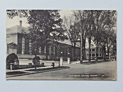 Vtg. State Prison, Windsor, Vermont American Art Postcard 1952 Post 3214