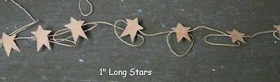 "Primitive Rusty Tin STAR GARLAND 6 Ft. Long with 12 1"" Stars Christmas Crafts"
