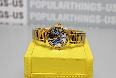 Invicta 24450 Angel Mother of Pearl Women's Gold-Tone Butterfly Wristwatch