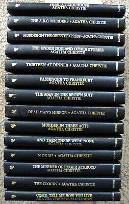 Lot 14 Agatha Christie Mystery Collection Hardcover Bantam Books Leatherette