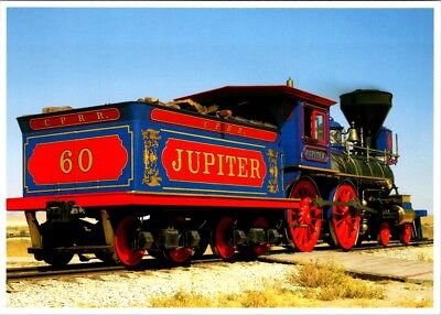 Postcard Utah Golden Spike National Historic Site Steam Locomotive Jupiter E-29l