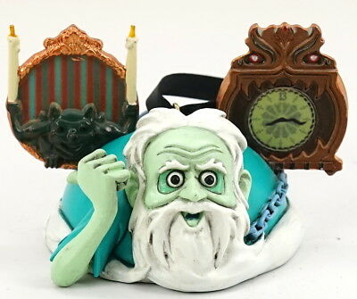 NEW Disney Haunted Mansion Hitchhiking Ghost Gus Mickey Ear Hat Ornament LE 2000