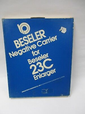 "Beseler #8068 1 5/8 x 1 5/8"" (127) negative carrier for model 23C enlarger. NOS"