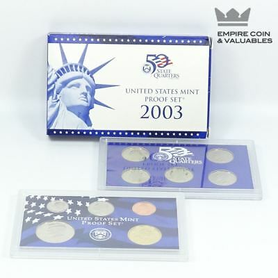 2003 S United States Mint Proof Set, 10 Coins, COA
