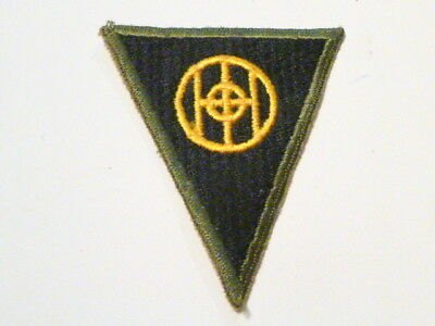 A Rare  WW 2 U S Army 83rd Division O D Border Ribbed Cut Edge White Back Patch
