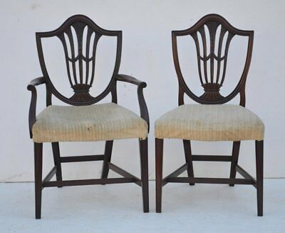 Antique Set of Eight Federal Style Mahogany Dining Chairs