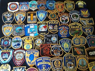 Police Patches - Rare / Lot of Assorted 54 pcs.