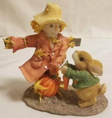 My Blushing Bunnies Harvesting Many Blessings Fall Scarecrow Rabbit 276324