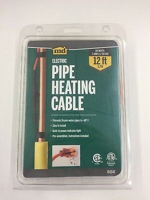 New MD Electric Pipe Heating Cable 84 WATTS 12 ft - Fast Free Ship - E02