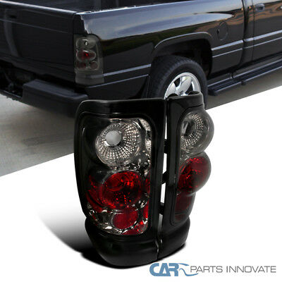 94 01 Dodge Ram 1500 2500 3500 Smoke Tail Lights Rear Brake Lamps Left