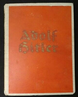 Rare Org 1936 Adolf Hitler Picture Book- Pictures From The Life Of Fuhrer