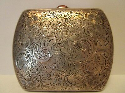 Vintage Sterling Silver Antique Cigarette Or Card Holder Purse Wallet Old 925