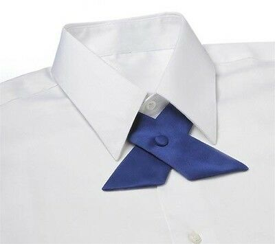 Royal Blue Satin Crossover Tie