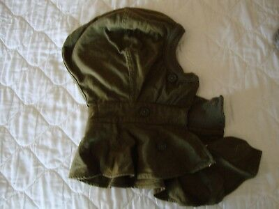 Vintage WWII Cold Weather Wool Hood