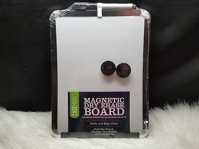 "Casemate Magnetic Dry Erase Board 8.5"" x 11"", Black"