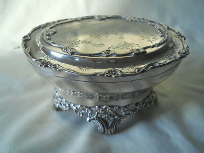 Sterling Jewelry Dresser Footed Box Wc England Nice