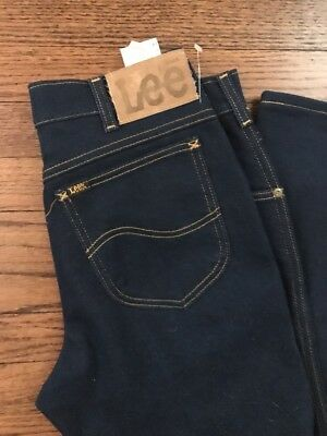 VTG LEE RIDERS STRETCH POLYESTER  STRAIGHT LEG JEANS 33 x 30 NOS NWOT  70s 80s