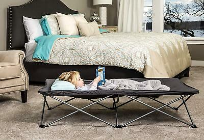 Regalo My Cot Extra Long Portable Bed, Gray, Includes Fitted Sheet and Travel