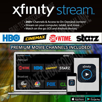 Xfinity Streaming TV HBO, Showtime, Cinemax  260+ Channels / 6 Mo with Warranty!