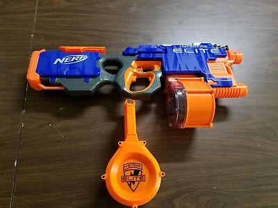 Nerf Hyperfire N-Strike Elite Blaster with 25 Round Ammo Drum x2 Darts Works