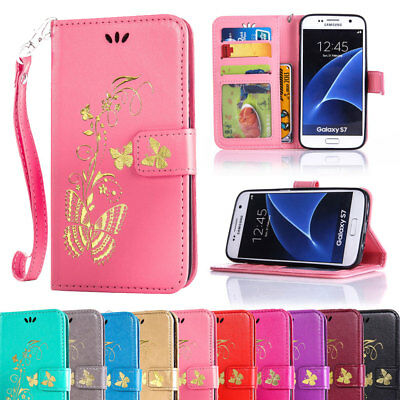 For Samsung Galaxy Phones Folding PU Leather Stand Card Wallet Pouch Case Cover