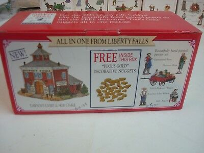 Liberty Falls Dawsons Livery and feed Stables with 5 figurines