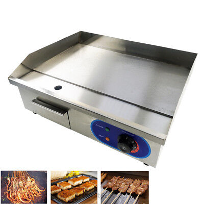 Electric Griddle Commercial Kitchen Flat Hotplate BBQ Grill Bacon Countertop 3KW