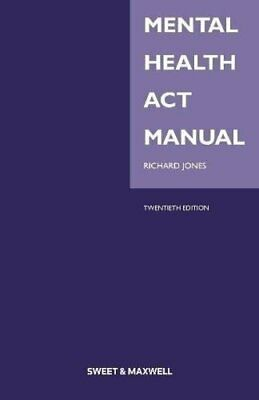 Mental Health Act Manual by Jones, Richard Book The Cheap Fast Free Post