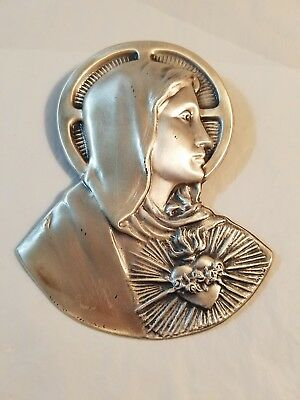 Vintage religious Mary  metal wall hanging              #2